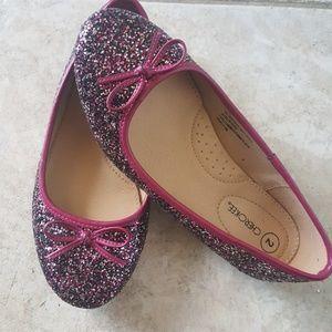 Purple Slip on Flats